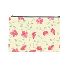 Seamless Flower Pattern Cosmetic Bag (Large)