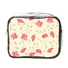 Seamless Flower Pattern Mini Toiletries Bags