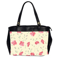 Seamless Flower Pattern Office Handbags (2 Sides)