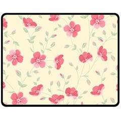 Seamless Flower Pattern Fleece Blanket (Medium)