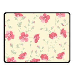 Seamless Flower Pattern Fleece Blanket (Small)