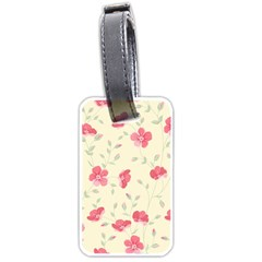 Seamless Flower Pattern Luggage Tags (One Side)
