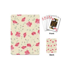 Seamless Flower Pattern Playing Cards (Mini)