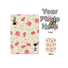 Seamless Flower Pattern Playing Cards 54 (Mini)