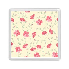 Seamless Flower Pattern Memory Card Reader (Square)