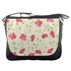 Seamless Flower Pattern Messenger Bags