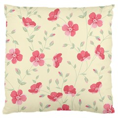 Seamless Flower Pattern Large Cushion Case (Two Sides)