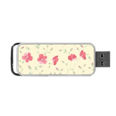 Seamless Flower Pattern Portable USB Flash (One Side)