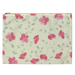 Seamless Flower Pattern Cosmetic Bag (XXL)