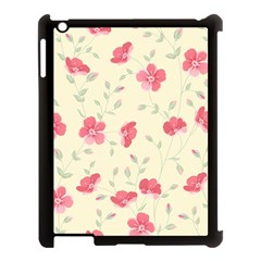 Seamless Flower Pattern Apple iPad 3/4 Case (Black)