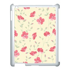 Seamless Flower Pattern Apple iPad 3/4 Case (White)
