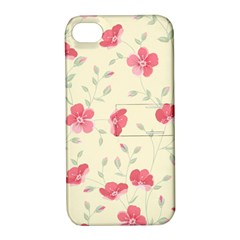 Seamless Flower Pattern Apple iPhone 4/4S Hardshell Case with Stand