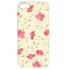 Seamless Flower Pattern Apple iPhone 5 Hardshell Case with Stand