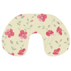 Seamless Flower Pattern Travel Neck Pillows