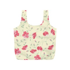 Seamless Flower Pattern Full Print Recycle Bags (S)