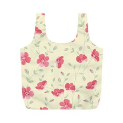 Seamless Flower Pattern Full Print Recycle Bags (M)