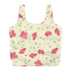 Seamless Flower Pattern Full Print Recycle Bags (L)