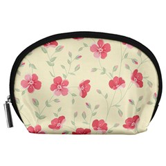 Seamless Flower Pattern Accessory Pouches (Large)