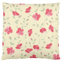 Seamless Flower Pattern Large Flano Cushion Case (One Side)
