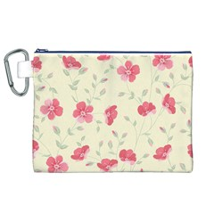 Seamless Flower Pattern Canvas Cosmetic Bag (XL)