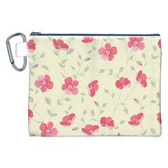 Seamless Flower Pattern Canvas Cosmetic Bag (XXL)