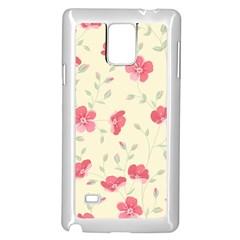 Seamless Flower Pattern Samsung Galaxy Note 4 Case (White)