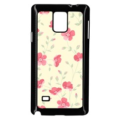 Seamless Flower Pattern Samsung Galaxy Note 4 Case (Black)