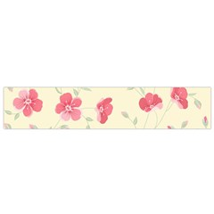 Seamless Flower Pattern Flano Scarf (Small)