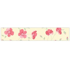 Seamless Flower Pattern Flano Scarf (Large)