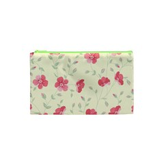 Seamless Flower Pattern Cosmetic Bag (XS)