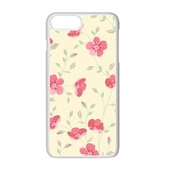 Seamless Flower Pattern Apple iPhone 7 Plus White Seamless Case