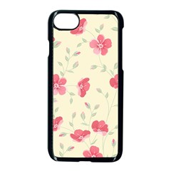 Seamless Flower Pattern Apple iPhone 7 Seamless Case (Black)