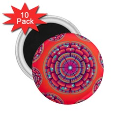 Pretty Floral Geometric Pattern 2.25  Magnets (10 pack)