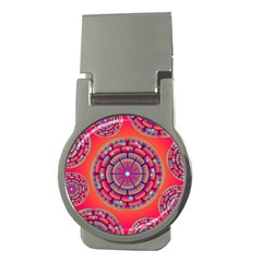 Pretty Floral Geometric Pattern Money Clips (Round)