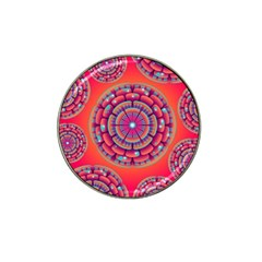 Pretty Floral Geometric Pattern Hat Clip Ball Marker (10 pack)