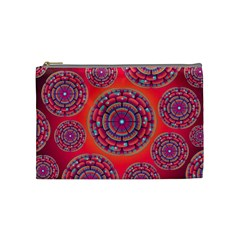 Pretty Floral Geometric Pattern Cosmetic Bag (Medium)