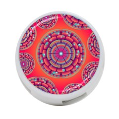 Pretty Floral Geometric Pattern 4-Port USB Hub (One Side)