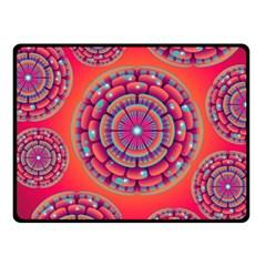 Pretty Floral Geometric Pattern Fleece Blanket (Small)