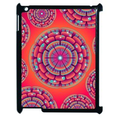 Pretty Floral Geometric Pattern Apple iPad 2 Case (Black)