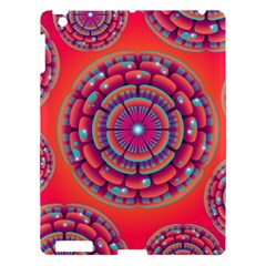 Pretty Floral Geometric Pattern Apple iPad 3/4 Hardshell Case