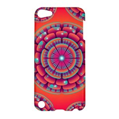Pretty Floral Geometric Pattern Apple iPod Touch 5 Hardshell Case
