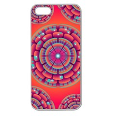 Pretty Floral Geometric Pattern Apple Seamless iPhone 5 Case (Clear)