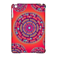 Pretty Floral Geometric Pattern Apple iPad Mini Hardshell Case (Compatible with Smart Cover)