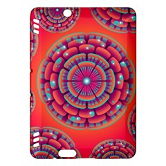 Pretty Floral Geometric Pattern Kindle Fire HDX Hardshell Case