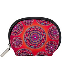 Pretty Floral Geometric Pattern Accessory Pouches (Small)