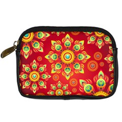 Red and Orange Floral Geometric Pattern Digital Camera Cases