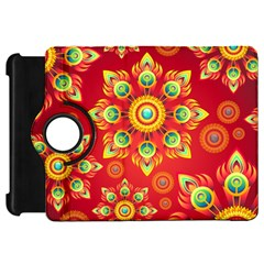 Red and Orange Floral Geometric Pattern Kindle Fire HD 7