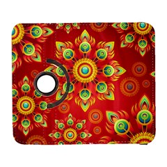 Red and Orange Floral Geometric Pattern Galaxy S3 (Flip/Folio)