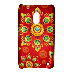 Red and Orange Floral Geometric Pattern Nokia Lumia 620