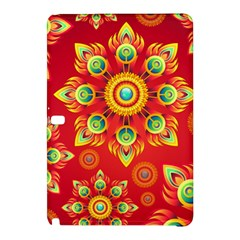 Red and Orange Floral Geometric Pattern Samsung Galaxy Tab Pro 10.1 Hardshell Case